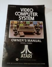 1977 Atari Video Computer System Owners Manual Model CX 2600 Owners Manual