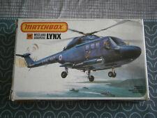 MAQUETTE HELICOPTERE WESTLAND AEROSPATIALE LYNX MATCHBOX  PK-108 - 1/72 - 1.72e
