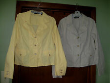 EDDIE BAUER OUTDOOR OUTFITTER 3 BUTTON JACKET'S 1 YELLOW AND 1 BEIGE LADIES 10T