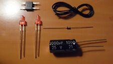 lot ho - 2 kit ECLAIRAGE FIN DE CONVOI led 2mm canon long  - train électrique