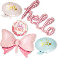 NEW Baby Shower Party Decoration BABY Boy&Girl Foil Balloon Set Pink Blue  Baby