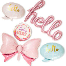 NEW Baby Shower Party Decoration BABY Boy&Girl Foil Balloons Set Pink Blue Baby