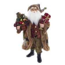 Kurt Adler Standing Santa Claus Christmas Tree Gift Basket Wine Glass Tablepiece
