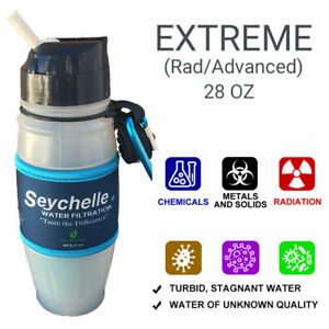 Seychelle 28 oz EXTREME (Rad/Advanced) EMERGENCY Water Filtration Bottle