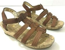 AMERICAN EAGLE Girls 2M Sandals Cork Wedge Faux Leather