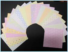 "20  ""PASTEL BASICS""  Patterened Scrapbooking Papers **15cm x 15cm** (6"" X 6"")"