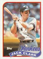 Jack Clark 1989 Topps #410 New York Yankees baseball card