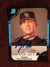 Troy Tulowitzki Signed Autographed Bowmans First Year Baseball Card BDP 105 Auto