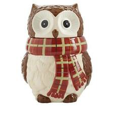 NEW~LARGE CHILLY BILLY OWL COOKIE JAR PIER 1 ~120 OZ ~HOME DECOR KITCHEN RETIRED