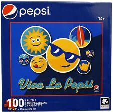 "New PEPSI ""Viva La Pepsi Emoji"" 10"" x 8"" 100 Pc KARMIN Collectible Jigsaw Puzzle"