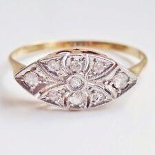 Vintage Art Deco 18ct Gold Diamond set Lozenge Shaped Ring c1925