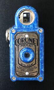 Rare Blue Art Deco Bakelite Coronet Midget Sub-Miniature Spy Camera c1930's