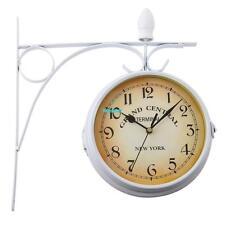 Uhr mit Wandhalterung, zweiseitige Bahnhofsuhr, tolle Küchenuhr mit Aufhängung