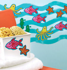 WALLIES SEA CREATURES wall stickers 25 decals fish octopus seahorse beach ocean