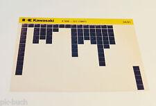 Microfich Ersatzteilkatalog Kawasaki Z 550 Modell 1981 Stand 04/1981