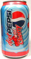 EMPTY UNOPEN 12oz 355ml Can American Old-Style Diet Pepsi Wild Cherry USA 2006
