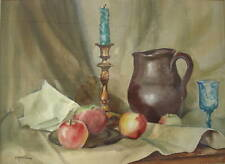 Marjorie Akerman Still Life Watercolor Painting MA Artist Signed Listed Vintage