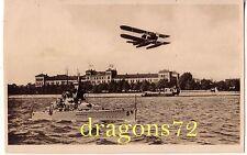 Foto PK Postkarte Kriegsmarine,Kriegsschiff+Flugboot Heimat,Norden???? orig