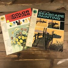 Grumbacher Library VTG Art Books Lot Of 2 Seascape Painting & Mixing Color Tech