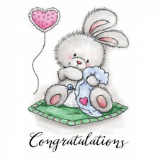 NEW 'Baby Bunny' Clear Stamp 👶  🇬🇧 seller