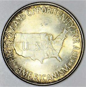 "1952 Washington-Carver ""Americanism"" Commemorative Half Dollar; Choice BU"