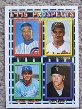 1995 Topps #599 Ozzie Timmons Curtis Goodwin Johnny Damon Jeff Abbott RC Card