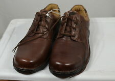 Clarks shoes Men's 17-M lace-up Brown Leather No Box / New with sole label