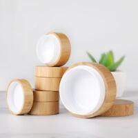 5g 10g Environmental Bamboo Bottle Cream Jars Empty Cosmetic Makeup Powder Pot