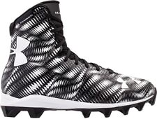 NEW YOUTH UNDER ARMOUR UA HIGHLIGHT RM sz 4Y BLACK WHITE Football Cleats