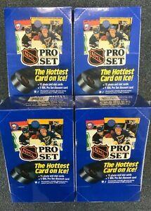 Lot of 4 SEALED 1990 - 1991 PROSET NHL HOCKEY CARD WAX BOXES