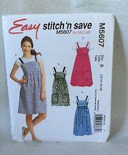 McCall's M5607 Stitch 'n Save Misses jumpe sewing pattern size 12 14 16 18 UNCUT