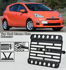 For 2012-Up Toyota Prius C Front Bumper Tow Hook License Plate Bracket Relocator