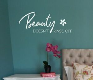 Beauty Doesn't Rinse Off Girls Bathroom Art Quote Wall Sticker Letter Decals