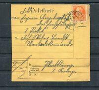 Paketkarte Bayern 30 Pfg. EF - b4862