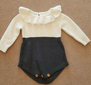 Knitted Baby Romper 6-9m