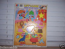 MB Lift 'n Look Hidden Picture Puzzle  Match Colors Circus Theme