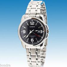 Casio LTP1314D-1AV Ladies Black Watch Stainless Steel Band Date Display New