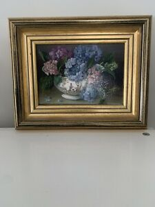 """Two (x2) Brookpace Fine Art - STILL LIFE WITH FLOWERS 10"""" x 8"""" Oleograph"""
