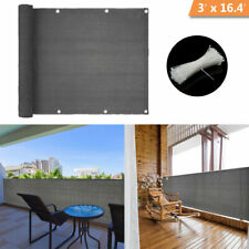 Balcony Privacy Shield UV Protection Opaque Weather-Resistant Balcony Cover 3×16