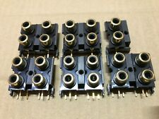 More details for audiolab early 8000c full set gold phono socket upgrade 5x4way + 1x2way 18x14mm