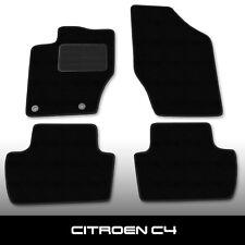 Fußmatten Citroen C4 Coupe (2004-2010) Schwarz Autoteppiche nadelfilz 4tlg