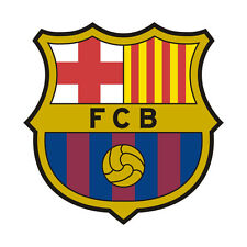 Sticker plastifié FCB Barcelona Barcelone FOOT - 9cm x 9cm