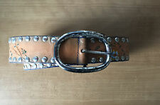 streets ahead leather belt With Studs And Floral Design