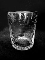 Collectible Crinkle Pressed Glass Tealight / Votive