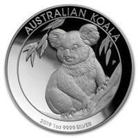 2019 Australian Koala 1oz Silver Proof High Relief Coin - New Low Price