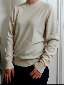Ballantyne 100% Pure Cashmere Women's Off White Long Sleeve Sweater / Pre-owned