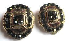 TARATATA Boucles d'oreilles clips originales couleur or cristaux bijou vintage 6