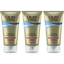 3 x Olay Cleanse Foaming Skin Cleansing Jelly Melts Away Make-Up for Normal Skin