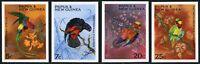 Papua Neuguinea 1967 Papageien Weihnachten Vögel 123-126 U Imperf MNH / 354 RAR