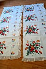 Vintage Tablecloth Tulip Curtains Drapes